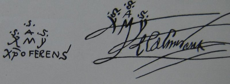 Columbus signature post 1492