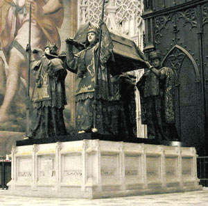 Columbus' Bones in Seville Cathedral ?